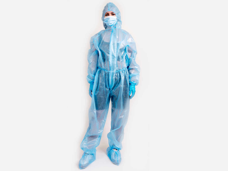 Синий комбинезон ламинированный